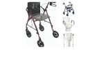 Free2Go Rollator - 3-in-1 Benefits:  Rolling Walker, Raised Toilet Seat & Toilet Safety Frame